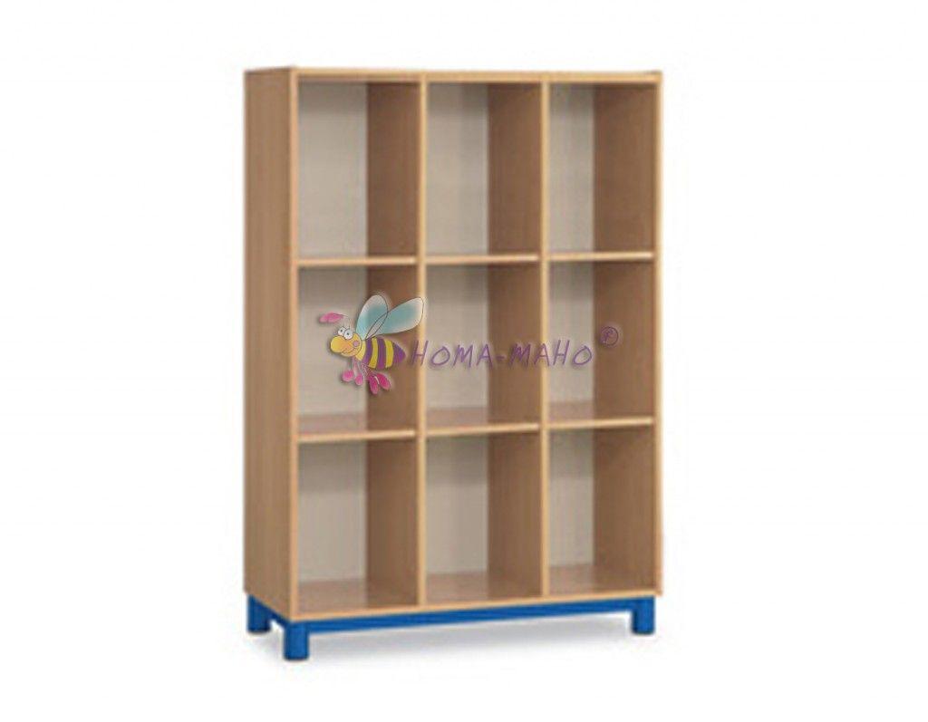 muebles-guarderías-alto-9-huecos-6-baldas120x35x160,rodapié perimetral.